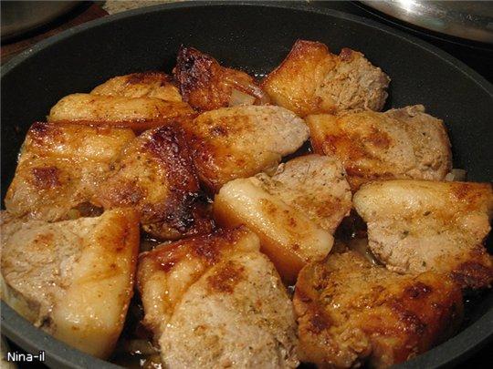 Рецепт жареного мяса