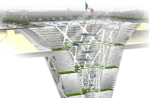 В Мексике планируется постройка первого подземного небоскреба-пирамиды