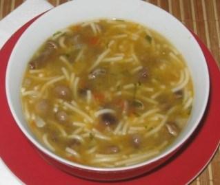 Великий пост: Грибной суп с макаронами