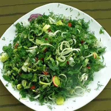 Великий пост: Салат из шпината и редиски