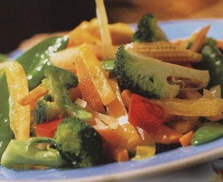 Великий пост: Теплый овощной салат