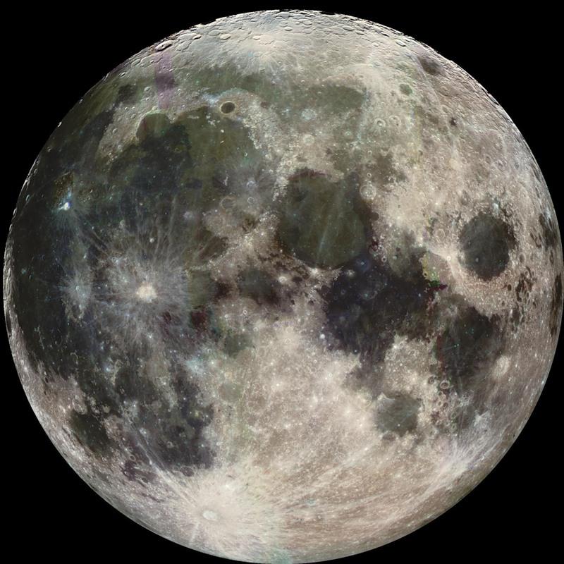 карту Южного полюса Луны