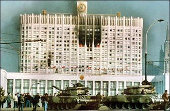 Президент России Б. Н. Ельцин подписал указ о роспуске Верховного Совета
