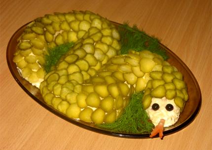 Салат Змейка (новогодние рецепты)