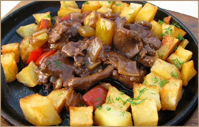 Жаркое из говядины с картофелем