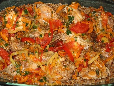 Жаркое с курицей и овощами