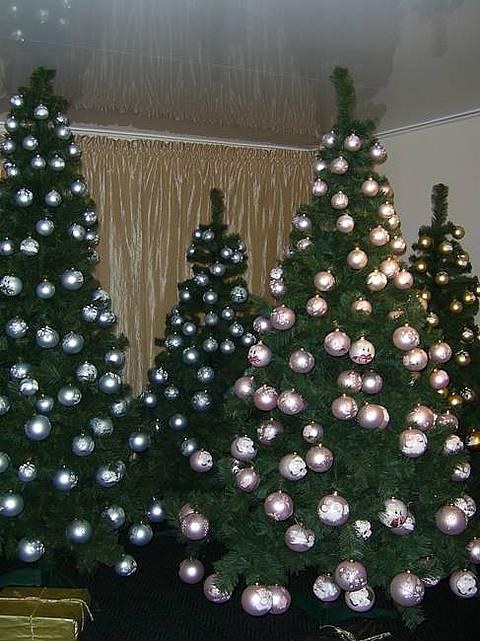 Новогодние елки. Фото. Как нарядить елку.